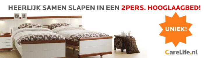 Hoog laag bed - Heerlijk slapen in een 2-persoons bed!